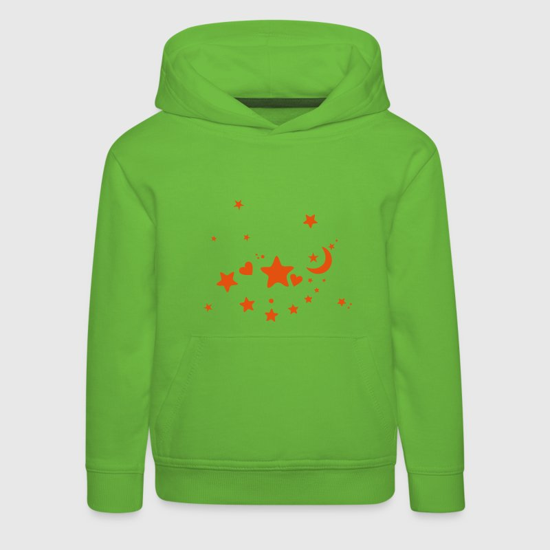 Starry night. Stars, Sky, Moon, Hearts Hoodies - Kids' Premium Hoodie