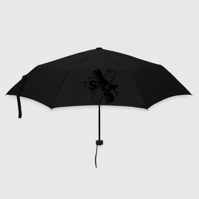 Two crossed snowboards with skull Umbrellas - Umbrella (small)