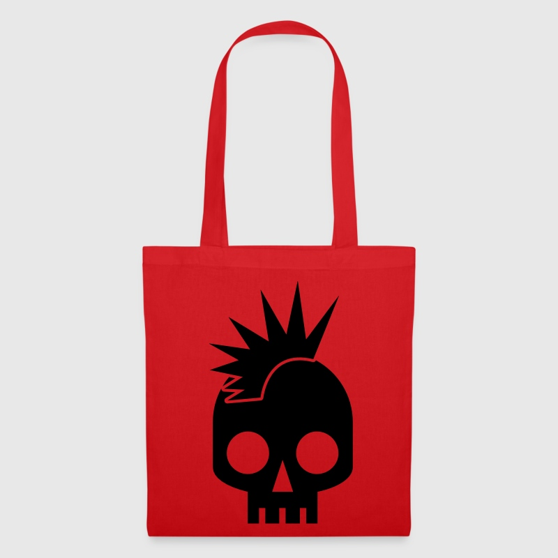 PUNK BABY skull with mohawk Bags  - Tote Bag