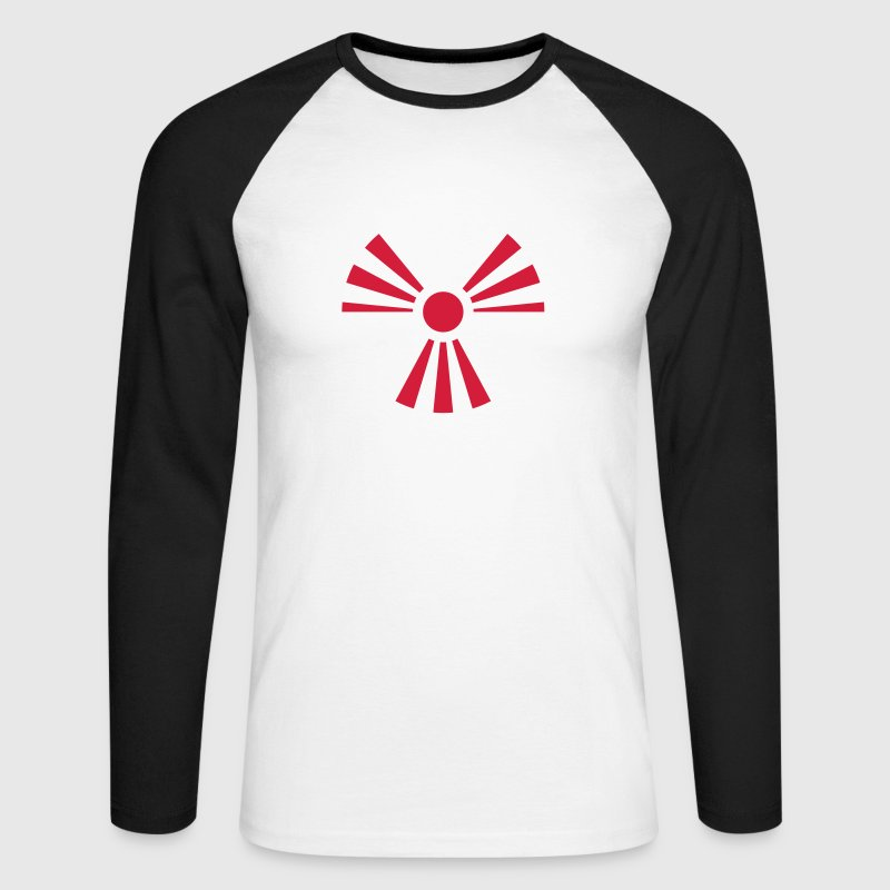 Radiation Sign (Rising Sun) (Vector) - Men's Long Sleeve Baseball T-Shirt