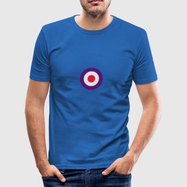 Mod Target United Kingdom Großbritannien Rollerfahrer Scooter Run Beatmusik Bamser - Herre Slim Fit T-Shirt