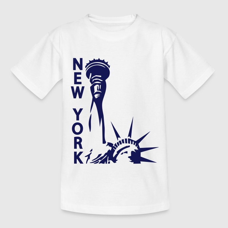Lady Liberty, New York, NY, Freiheitsstatue, Statue of Liberty, www.eushirt.com - Teenager T-Shirt
