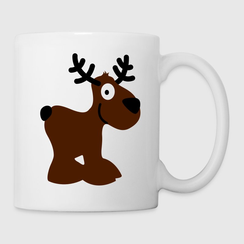 cute moose caribou reindeer deer christmas norway rudolph rudolf winter scandinavia canada smile eyes Mugs  - Mug
