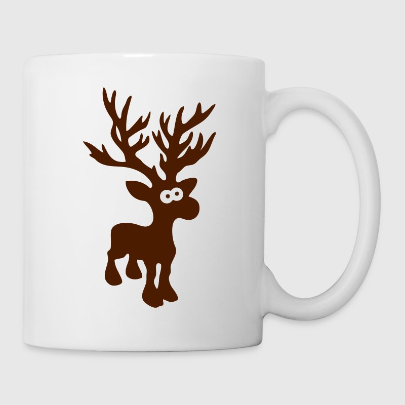 cute moose caribou reindeer deer christmas norway rudolph rudolf winter scandinavia canada Mugs  - Mug