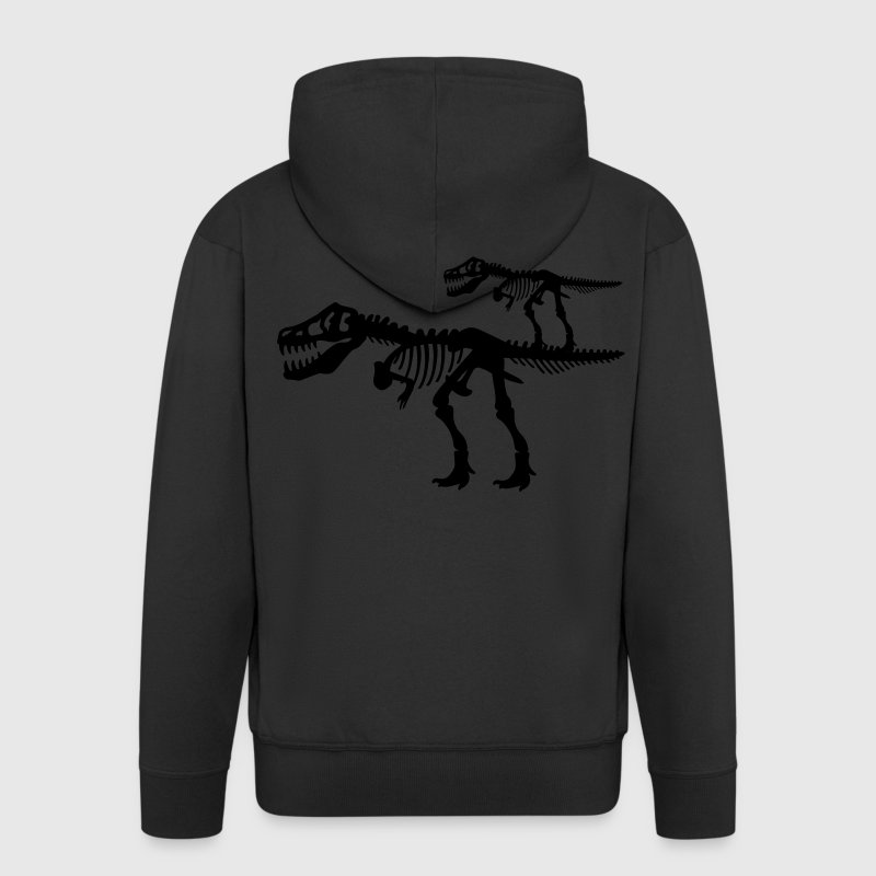 Tyrannosaurus Rex T.Rex Dinosaur Skeleton Coats & Jackets - Men's Premium Hooded Jacket