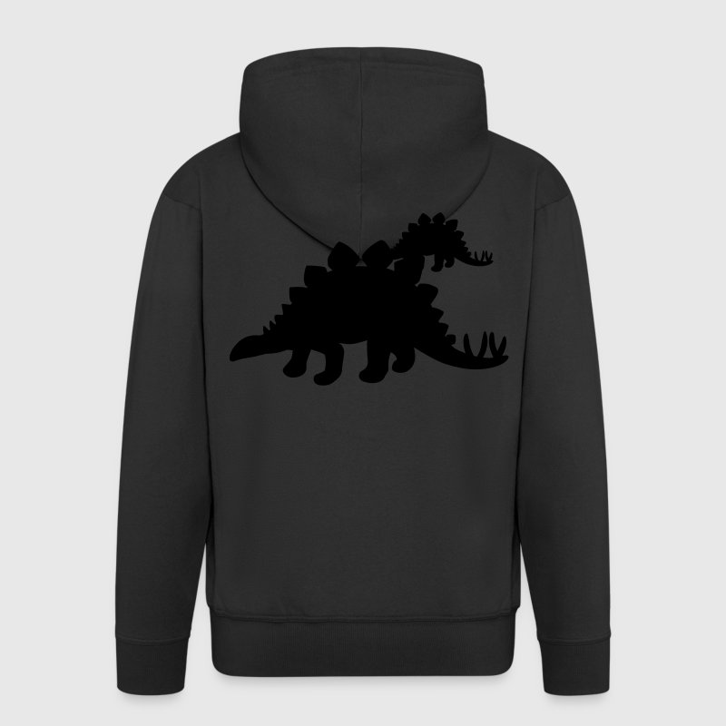Stegosaurus Dinosaur Coats & Jackets - Men's Premium Hooded Jacket