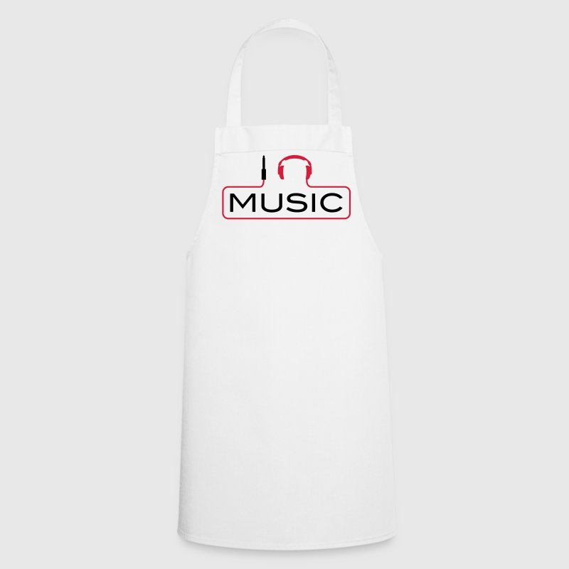 I love music plug headphones sound bass beat catch cable music i love techno minimal house club dance dj discjockey electronic electro  Aprons - Cooking Apron