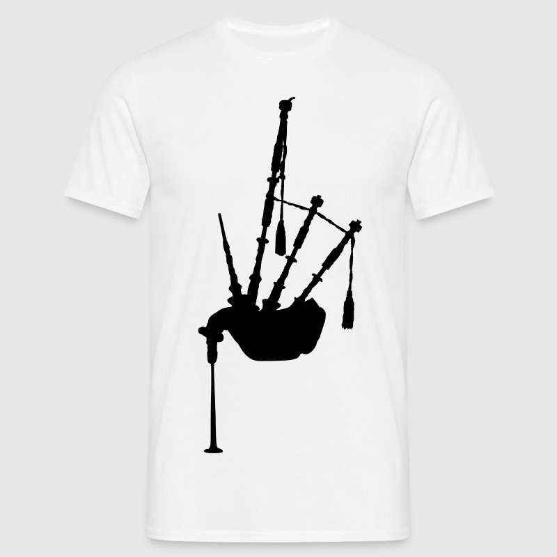music bagpipe scotland scottish Tee shirts - T-shirt Homme