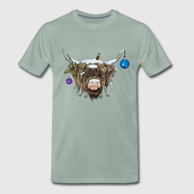 Christmas Highland Cow (Limited Edition) T-Shirts - Men's Premium T-Shirt