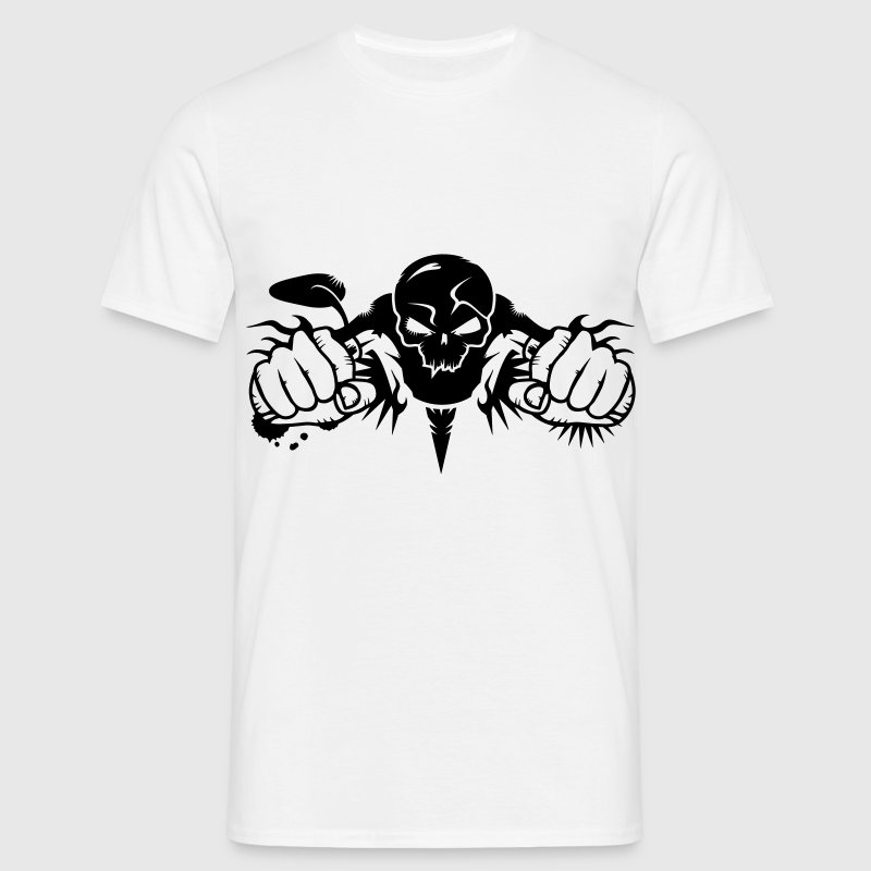Skull Motorcycle T-Shirts - Men's T-Shirt