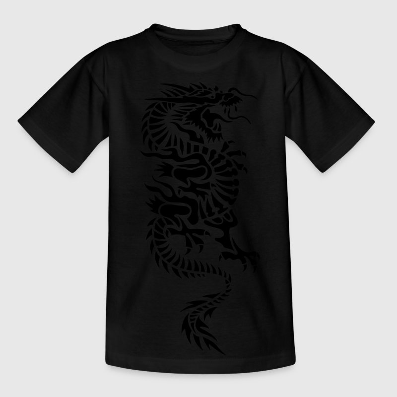 chinese dragon tribal Børne T-shirts - Teenager-T-shirt