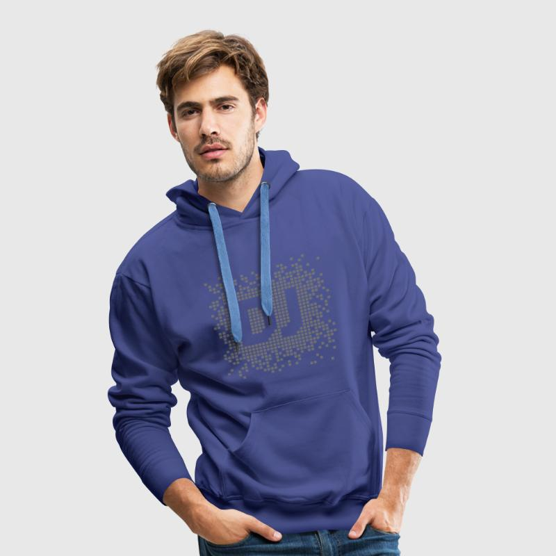 Royal blue DJ Pixel Hoodies & Sweatshirts - Men's Premium Hoodie