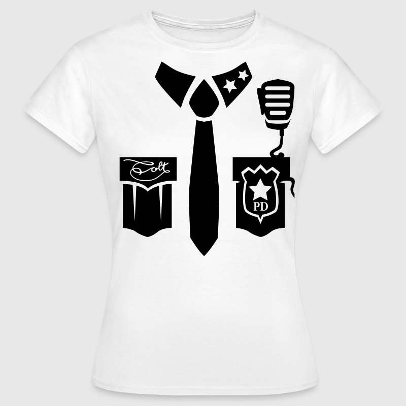 White Police Uniform - Emblem page T-Shirts - Women's T-Shirt