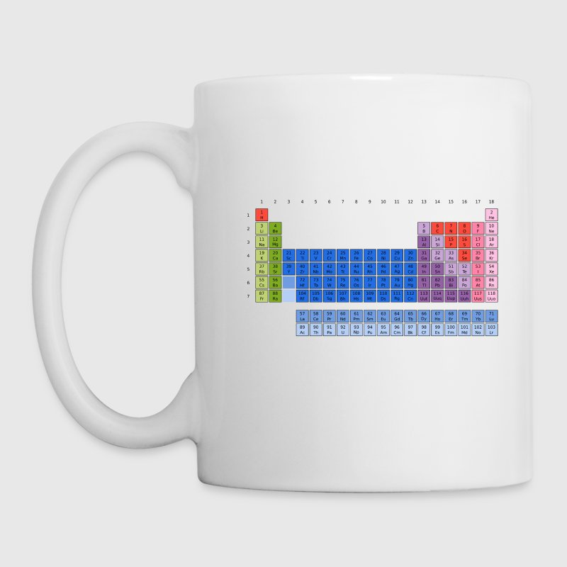 Periodensystem der Elemente (PSE) Periodic Table of the Elements Tassen - Tasse