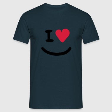 I Love Basecap Smiley - Männer T-Shirt