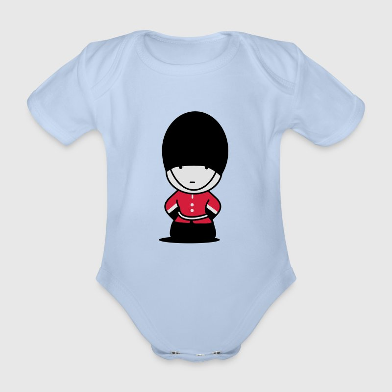 A Royal Guard in London Baby Bodysuits - Organic Short-sleeved Baby Bodysuit