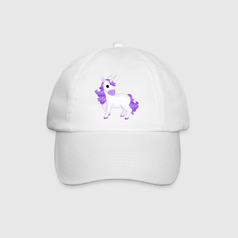 Pretty Purple Unicorn Cartoon Baseball Cap - Baseball Cap
