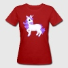Pretty Purple Unicorn Cartoon Ladies Organic T-Shirt - Women's Organic T-shirt