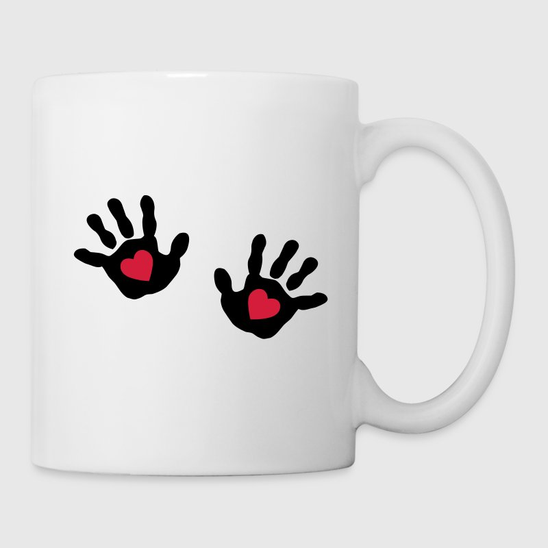 baby - hands - handprint - heart Mugs  - Mug