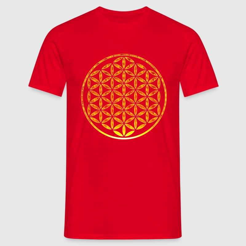 Flower of Life - stempel brand - Mannen T-shirt