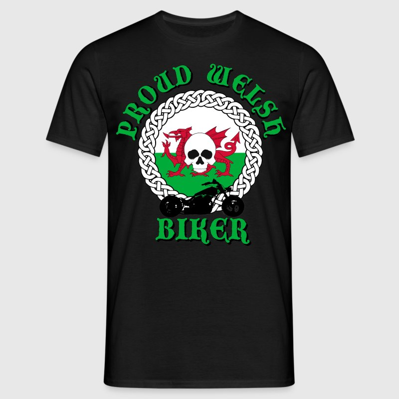 Proud Welsh Biker T-Shirts - Men's T-Shirt