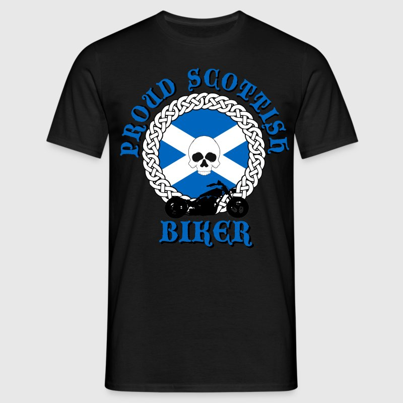 Proud Scottish Biker T-Shirts - Men's T-Shirt