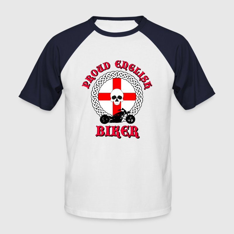 Proud English Biker T-Shirts - Men's Baseball T-Shirt