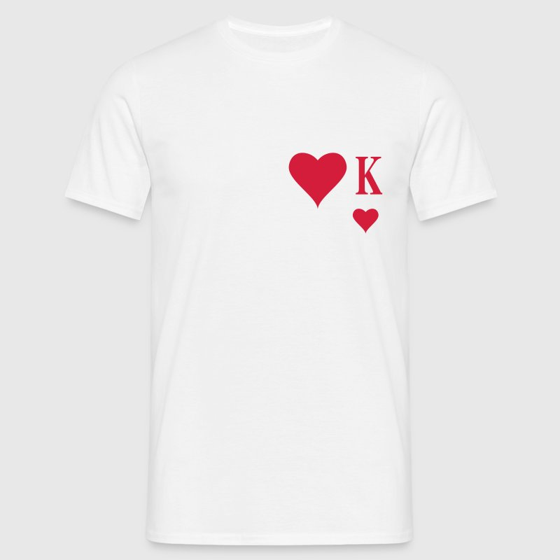 Heart King | Herz König | king of hearts | K T-Shirts - Männer T-Shirt