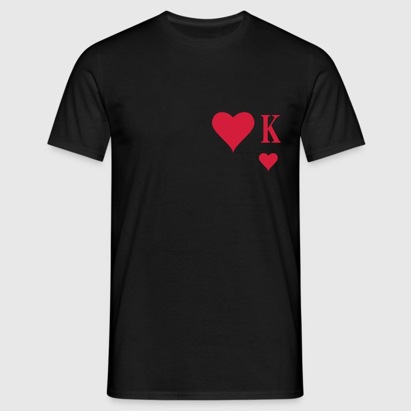 Heart King | Herz König | king of hearts | K T-Shirts - Camiseta hombre