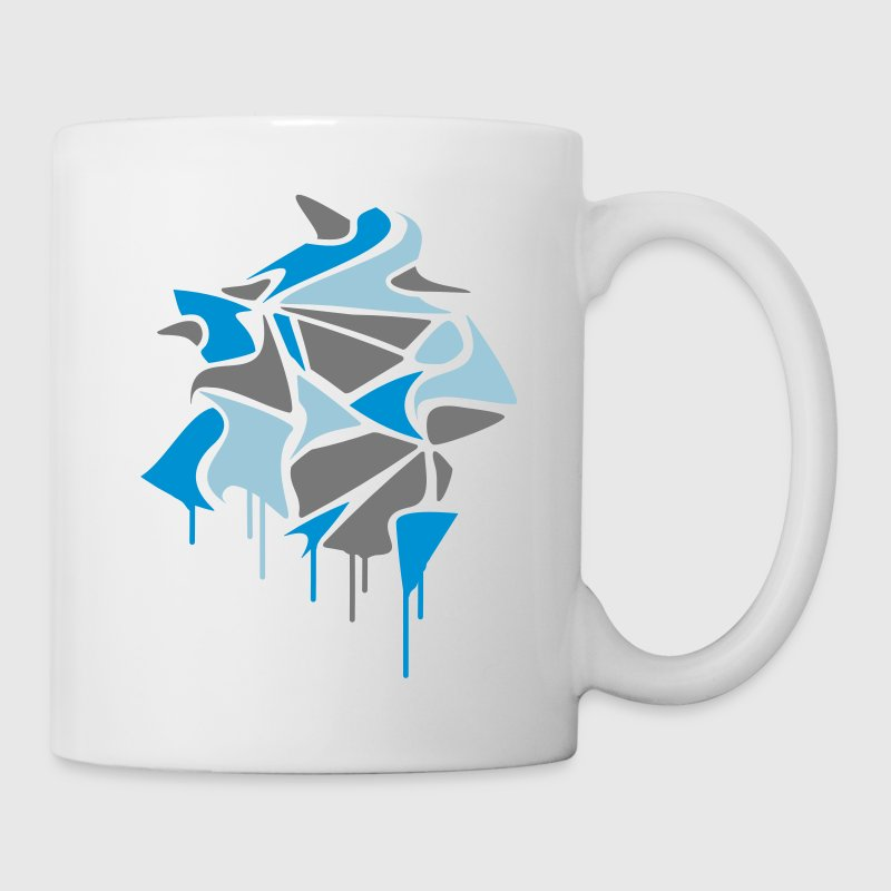 various abstract shapes in graffiti style and dripping paint  Mugs  - Mug