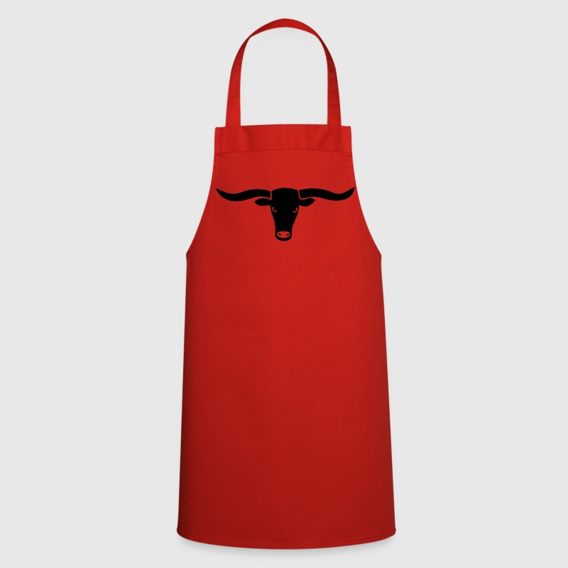 bull skull ox horn horns bully cow farmer cowboy rodeo hunter texas boy wild west   Aprons - Cooking Apron