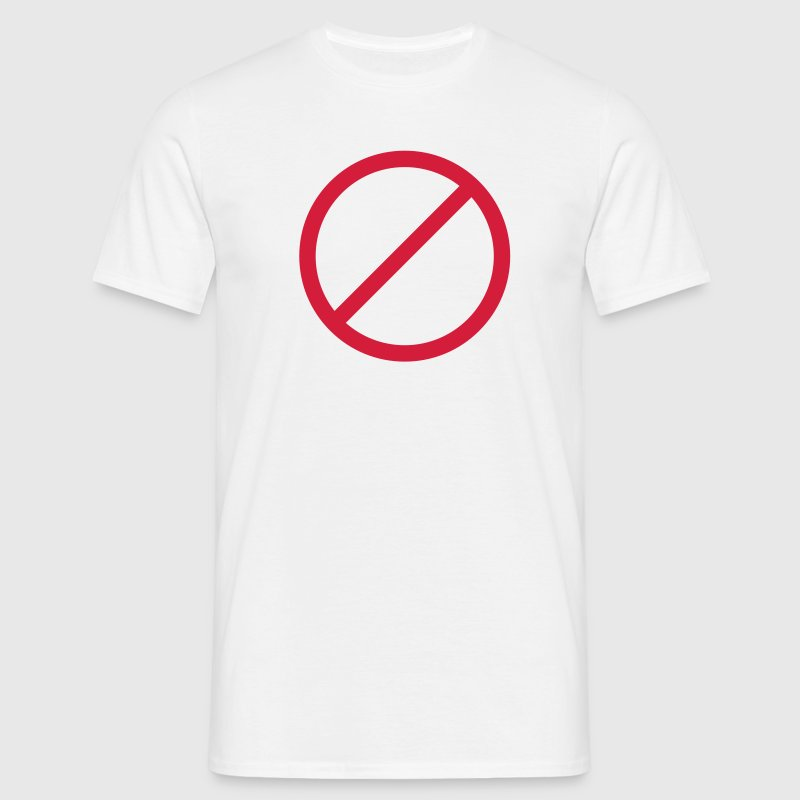 Ban interdit signe d'interdiction signe - T-shirt Homme