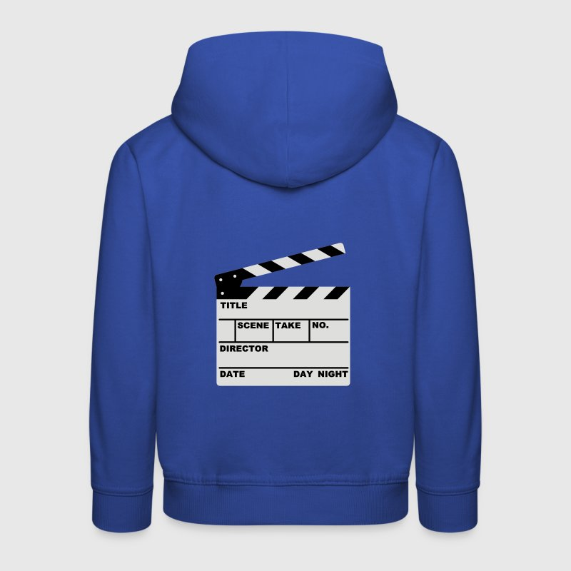 clapperboard (writable flex) :-: - Kinder Premium Hoodie