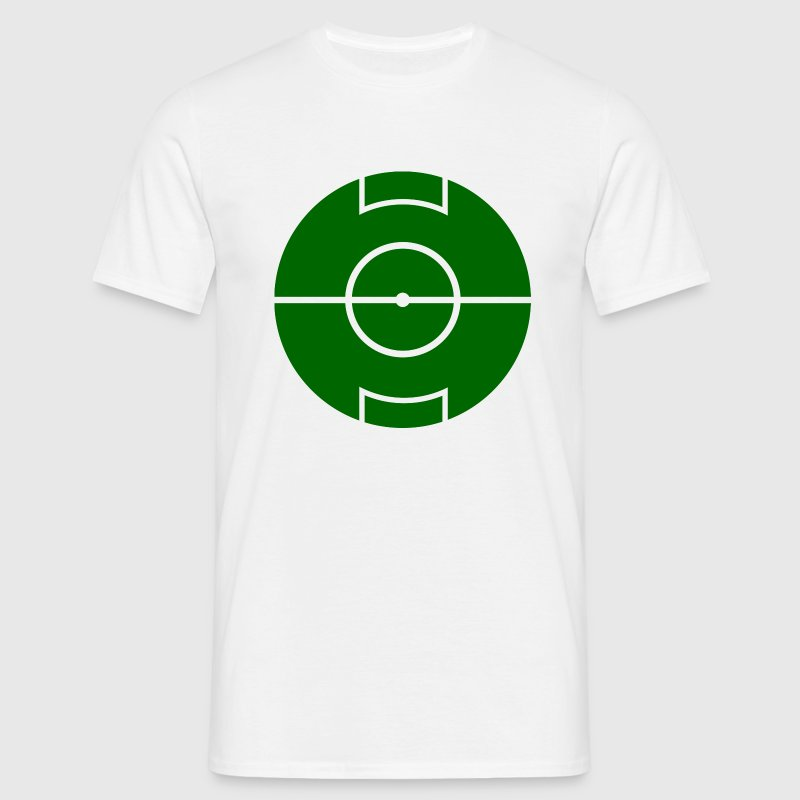 Round Soccer Field - Men's T-Shirt