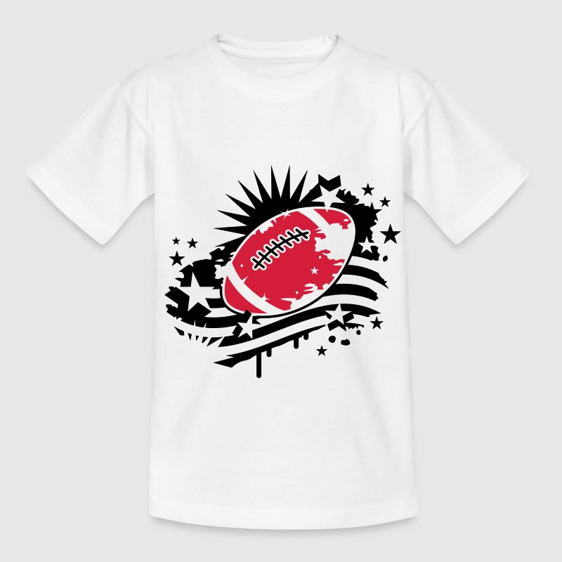 Le football avec un drapeau américain, Stars and Stripes graffitis Tee shirts Enfants - T-shirt Ado
