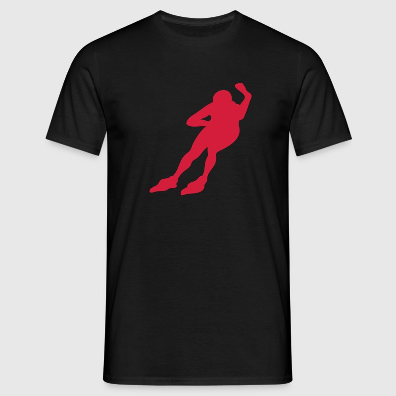 sport roller course vitesse patin3 Tee shirts - T-shirt Homme