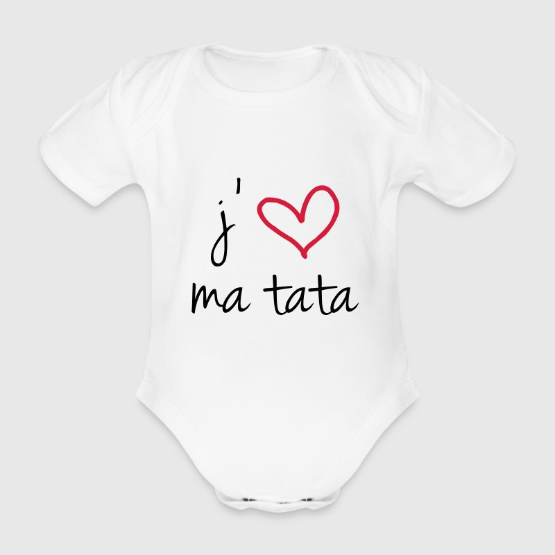 I love my tata - Organic Short-sleeved Baby Bodysuit