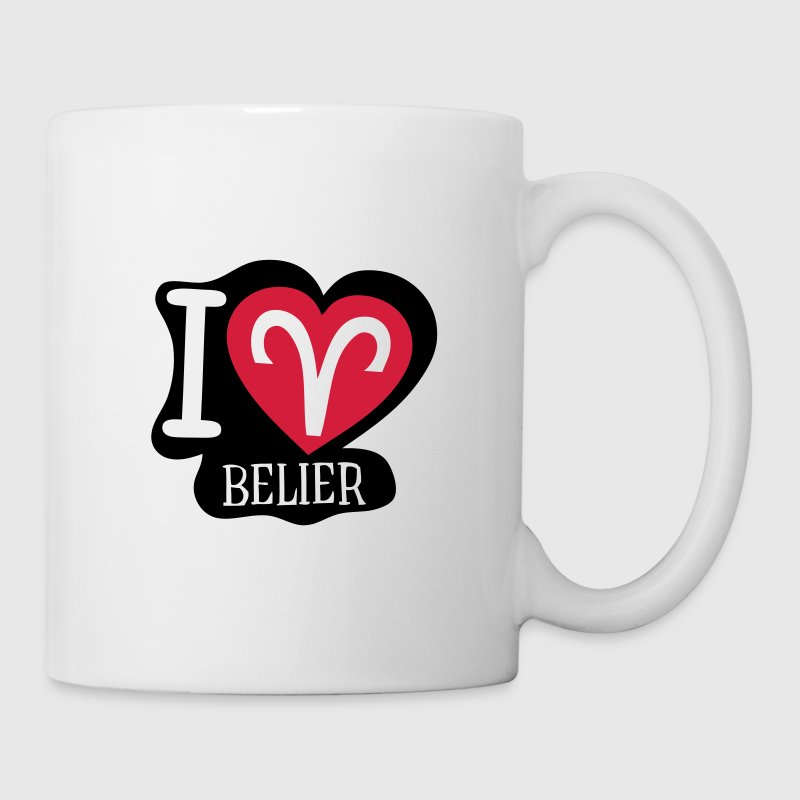 i love belier signe astrologique Tasses - Tasse