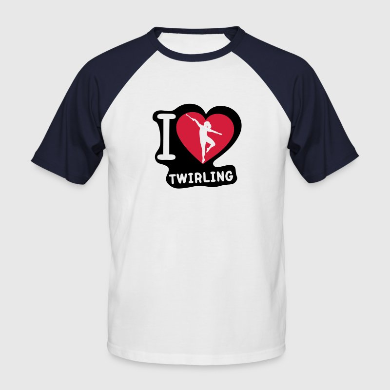 i love coeur sport twirling baton2 Tee shirts - T-shirt baseball manches courtes Homme