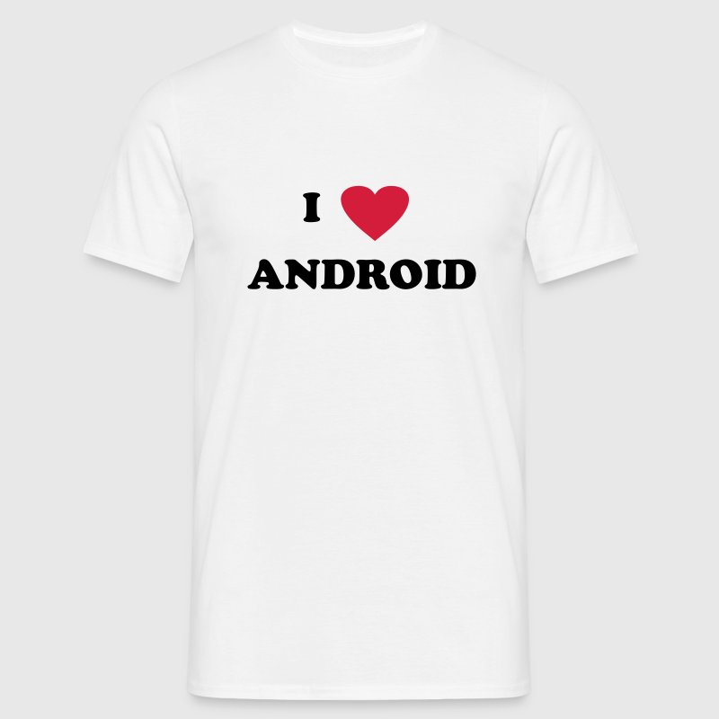 I love Android - Men's T-Shirt