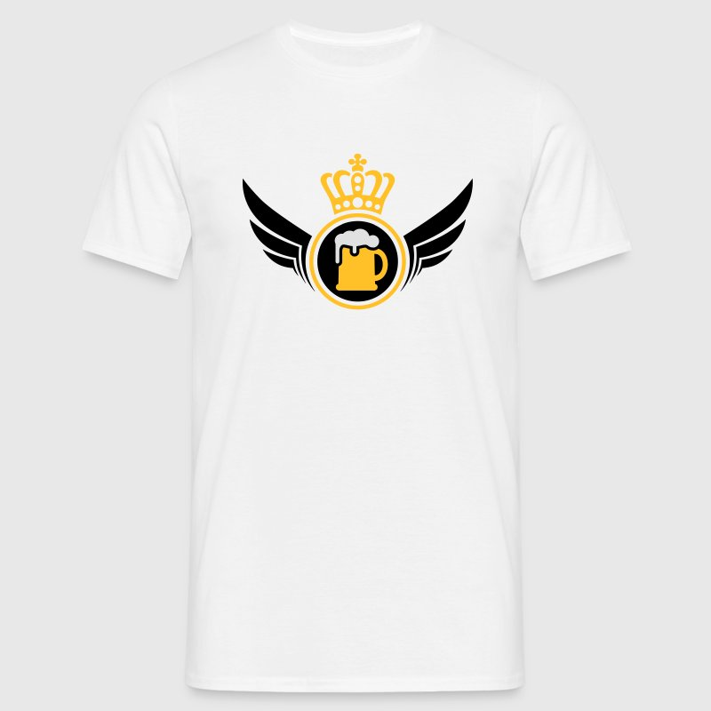 Beer Lord | Wings | Crown | Krone T-Shirts - T-shirt herr