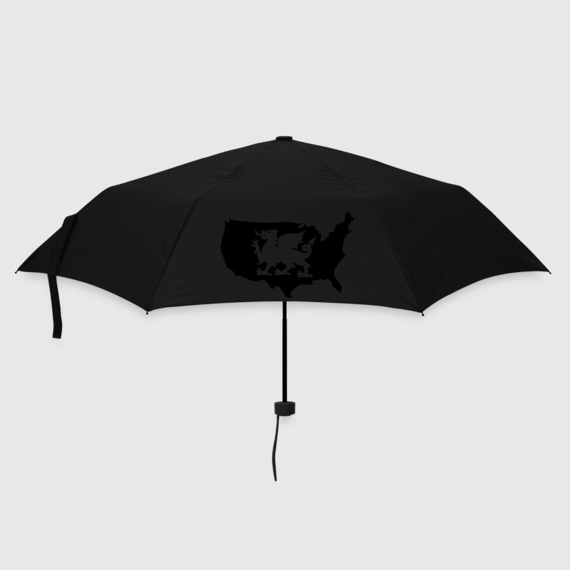 USA Welsh Dragon Umbrellas - Umbrella (small)