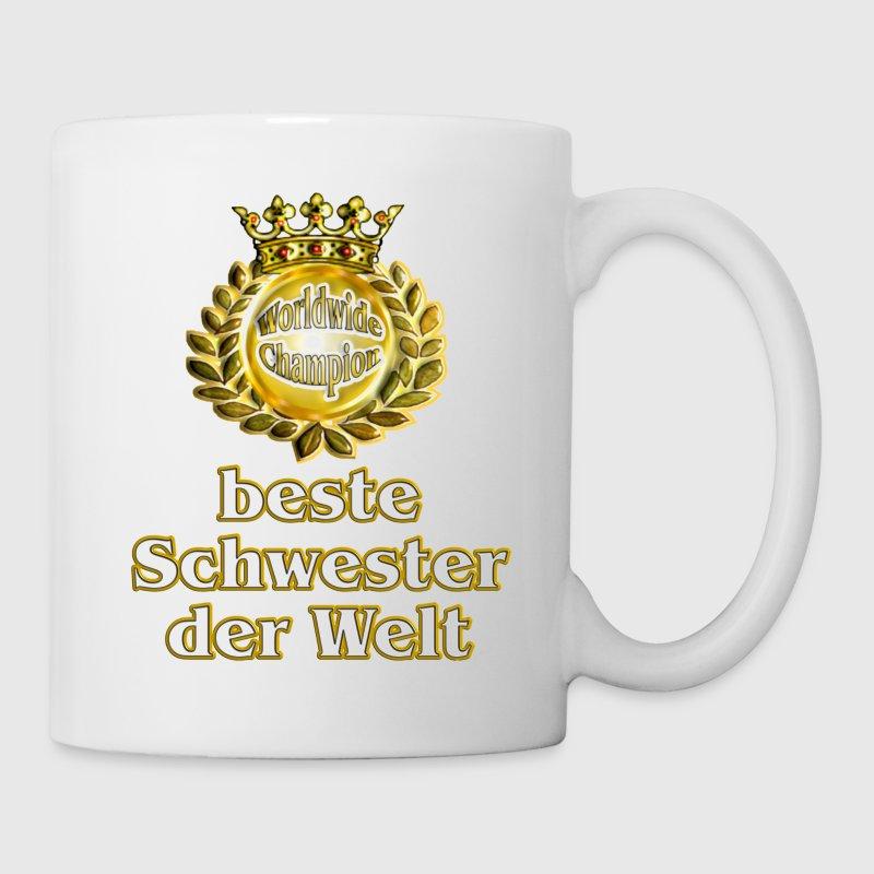 Beste Schwester Der Welt : beste schwester der welt goldene serie tasse spreadshirt ~ Frokenaadalensverden.com Haus und Dekorationen