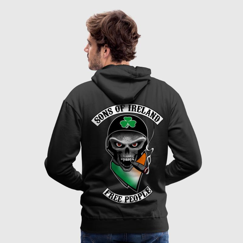 irish skull biker Sweat-shirts - Sweat-shirt à capuche Premium pour hommes