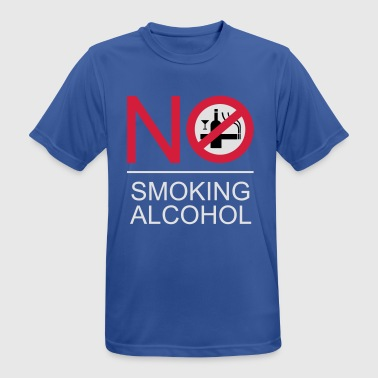 NO Smoking Alcohol Sign - Men's Breathable T-Shirt
