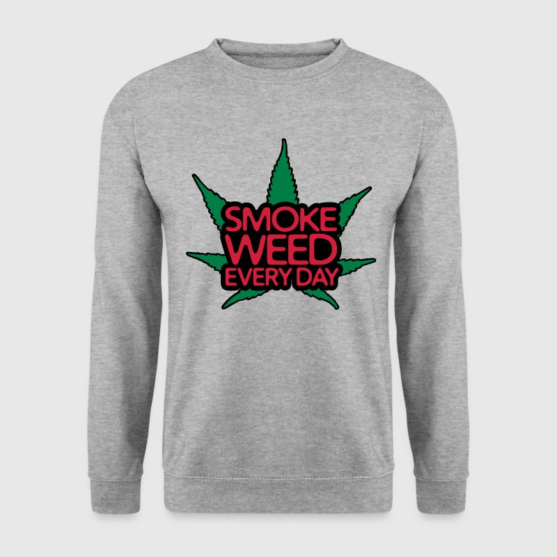 smoke weed every day Sweaters - Mannen sweater