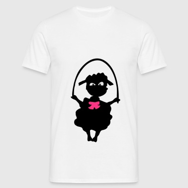 Little lamb  jumping rope Baby One- Piece - Men's T-Shirt