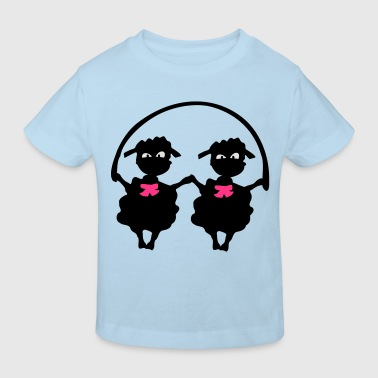 Little lamb s & Jumping rope  Baby One- Piece - Kids' Organic T-shirt