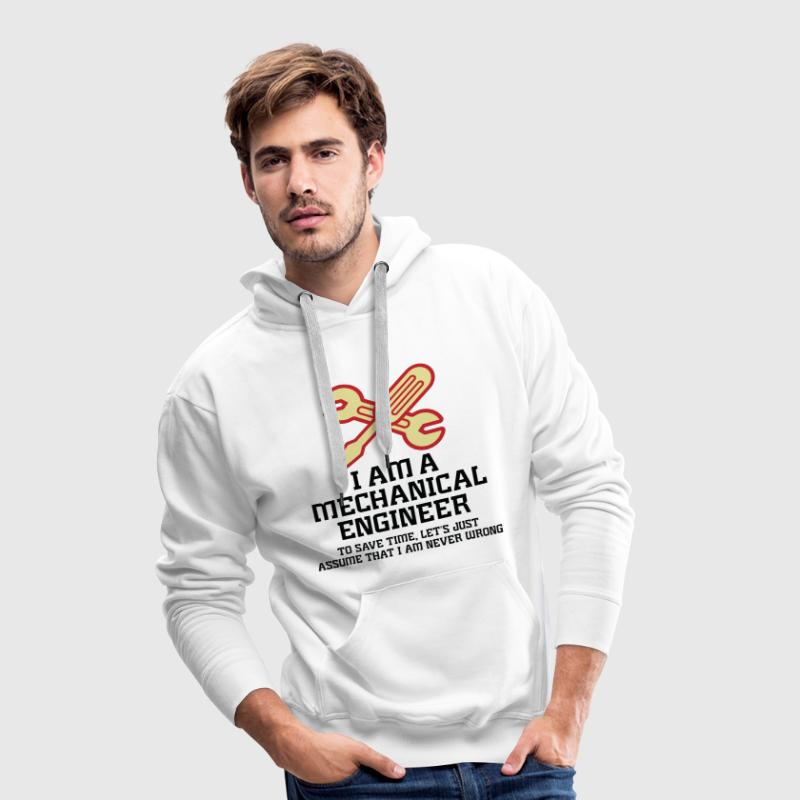 I Am A Mechanical Engineer 1 (dd)++ Hoodies & Sweatshirts - Men's Premium Hoodie