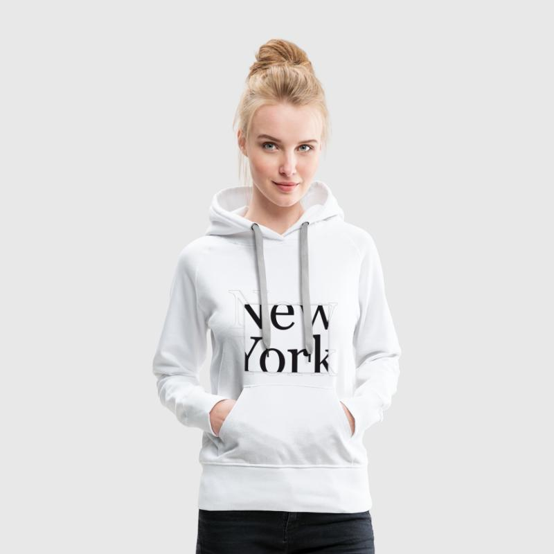 New York - Sweat-shirt à capuche Premium pour femmes